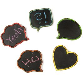 Blackboards mini write-on fridge magnets, in second-hand look, set of 5