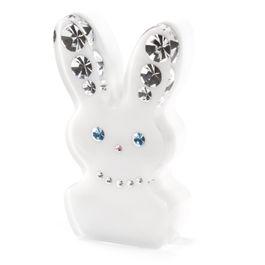 Diamond Rabbit Kühlschrankmagnet Hase, mit Swarovski-Kristallen