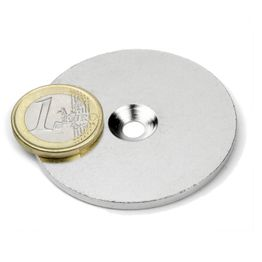 MD-52 Metal disc with counterbore Ø 52 mm, as a counterpart to magnets, not a magnet!