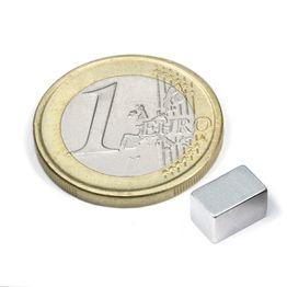 Q-08-05-05-Z Parallelepipedo magnetico 8 x 5 x 5 mm, neodimio, N45, zincato
