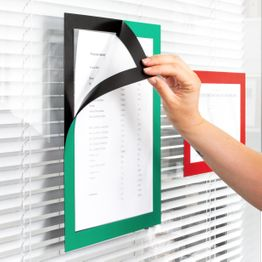 Cornice magnetica autoadesiva A4 portastampati magnetici per appendere avvisi, formato A4