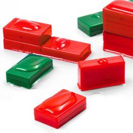 M-BLOCK-01 Blokmagneten met kunststof ommanteling, waterdicht, 5 stuks per set, in verschillende kleuren