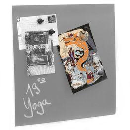 Schoolbord folie 40 x 40 cm zelfklevend ferromagnetisch hechtondergrond voor magneten, grijs
