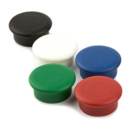"""Büromagnete """"Boston Xtra Mini"""" rund hält ca. 1,5 kg, Pinnwand-Magnete Neodym, Ø 20 mm, 10er-Set, in verschiedenen Farben"""