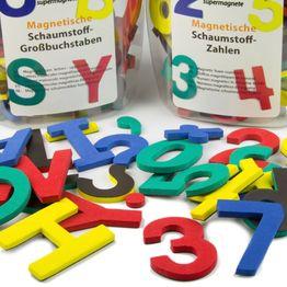Lettere o numeri magnetici set di caratteri magnetici, in schiuma di EVA, 4 colori assortiti