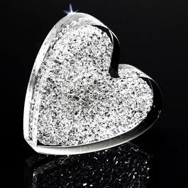 Corazón brillante potente imán de nevera, con cristales Swarovski