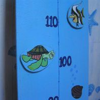 Growth chart with magnetic paint