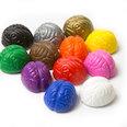 Magneti decorativi a forma di cervello, colori assortiti, set da 12