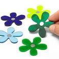 Magneti floreali in colori invernali, set da 5