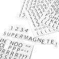 Per etichettare scaffali metallici, 120 caratteri per foglio A4, set in due parti, bianco