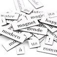 Parole, sillabe e segni di punteggiatura, 510 pezzi, disponibile in diverse lingue