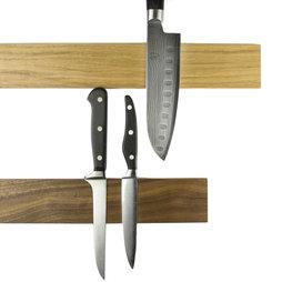 M-KNIFEP-001, Barra portacoltelli magnetica 45 cm, barra magnetica, in legno, per coltelli fino a 500 g