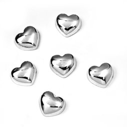 LIV-80, Sweetheart, heart-shaped metal magnets, set of 6