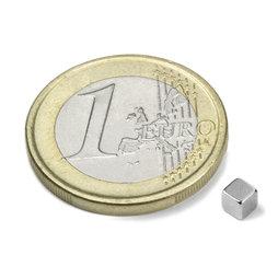 W-03-N, Cubo magnetico 3 mm, neodimio, N45, nichelato