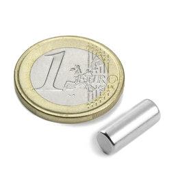 S-05-14-N, Cilindro magnetico Ø 5 mm, altezza 13,96 mm, neodimio, N45, nichelato
