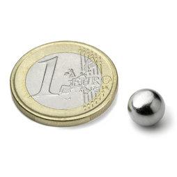 K-08-C, Sfera magnetica Ø 8 mm, neodimio, N38, cromato