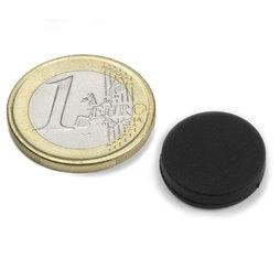 S-15-03-R, Disc magnet rubberised Ø 16,8 mm, height 4,4 mm, neodymium, N45