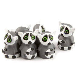LIV-89, Lemurs, strong fridge magnets, set of 6