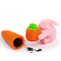 M-70, Infusore coniglio&carota, infusore per tè in silicone, non magnetico!