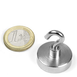 Magnete con base in acciaio con gancio
