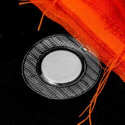 M-SEW-04, Magneti da cucire 18 x 2 mm rotondi, con guaina rotonda in PVC