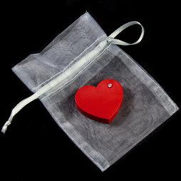 LIV-90, Red Heart, Kühlschrankmagnet Herz, mit Zirkonia