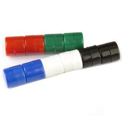 M-DISC-01/mixed1, Dischi magnetici con involucro di plastica, 10 pezzi per set, colori assortiti