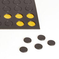 MS-TAKKI-04, Takkis rotondi 10 mm, piastrine magnetiche autoadesive, 60 piastrine per foglio
