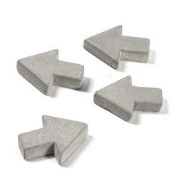 LIV-97/concrete1, Beton-Magnete, Pfeile, 4er-Set
