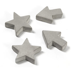 LIV-97, Magneti in cemento, in tre diverse forme, set da 4