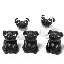 LIV-103, Carlini, magneti decorativi a forma di cani, set da 5