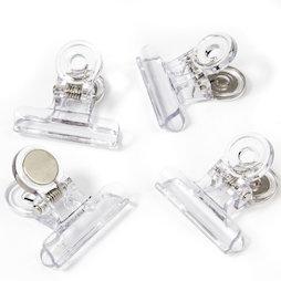 LIV-113, Mollette magnetiche trasparenti, in plastica, set da 4