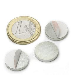 PAS-16, Disco metallico autoadesivo, Ø 16 mm, come controparte per i magneti, non è un magnete!