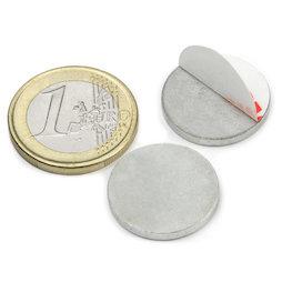 PAS-20, Metallscheibe selbstklebend Ø 20 mm, als Gegenstück zu Magneten, kein Magnet!