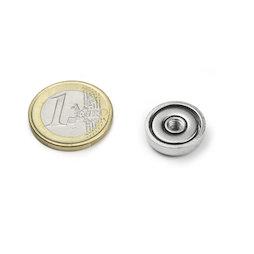 ITN-16, Magnete con base in acciaio con filettatura M4, Ø 16 mm