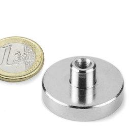 TCN-32, Magnete con base in acciaio con boccola filettata, Ø 32 mm, filettatura M5