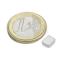 Q-06-05-02-HN, Parallelepipedo magnetico 6 x 5 x 2 mm, neodimio, 48H, nichelato