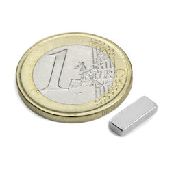 Q-10-04-02-N, Parallelepipedo magnetico 10 x 4 x 2 mm, neodimio, N50, nichelato