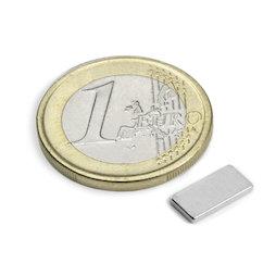 Q-10-05-1.2-N, Parallelepipedo magnetico 10 x 5 x 1,2 mm, neodimio, N50, nichelato