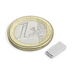 Q-10-05-02-N, Parallelepipedo magnetico 10 x 5 x 2 mm, neodimio, N50, nichelato