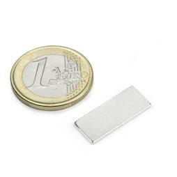 Q-22-8.5-1.4-SHN, Parallelepipedo magnetico 22 x 8,5 x 1,4 mm, neodimio, 35SH, nichelato