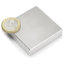Q-50-50-12.5-N, Parallelepipedo magnetico 50 x 50 x 12,5 mm, neodimio, N35, nichelato