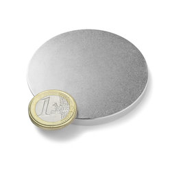 S-60-05-N, Disco magnetico Ø 60 mm, altezza 5 mm, neodimio, N42, nichelato