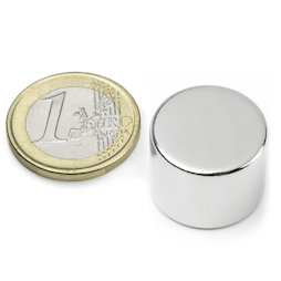 S-20-15-N, Disco magnetico Ø 20 mm, altezza 15 mm, neodimio, N42, nichelato