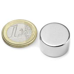 S-20-12-N, Disco magnetico Ø 20 mm, altezza 12 mm, neodimio, N42, nichelato