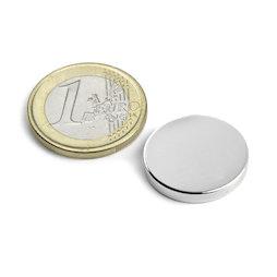 S-20-03-N, Disco magnetico Ø 20 mm, altezza 3 mm, neodimio, N45, nichelato