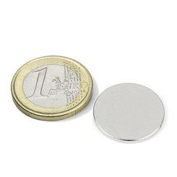 S-20-1.5-N, Disco magnetico Ø 20 mm, altezza 1,5 mm, neodimio, N38, nichelato