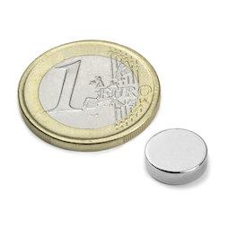 S-10-03-N, Disco magnetico Ø 10 mm, altezza 3 mm, neodimio, N42, nichelato