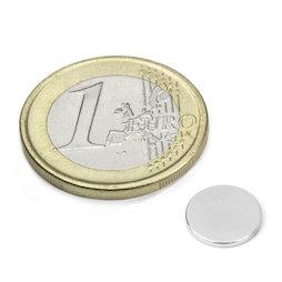 S-10-1.5-N, Disco magnetico Ø 10 mm, altezza 1,5 mm, neodimio, N42, nichelato