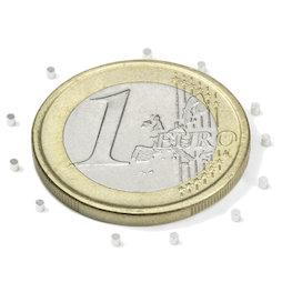 S-01-01-N, Disque magnétique Ø 1 mm, hauteur 1 mm, néodyme, N45, nickelé